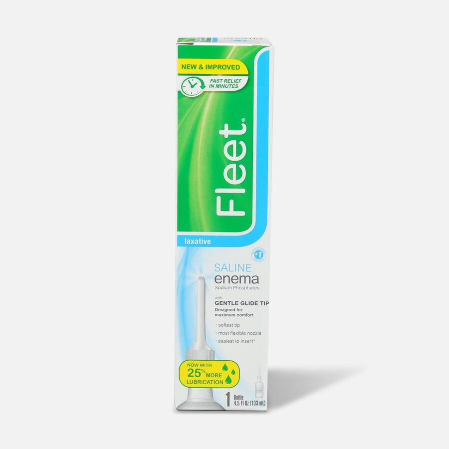 Fleet Enema, Ready-to-Use Saline Laxative, 4.5 fl oz, , large image number 0