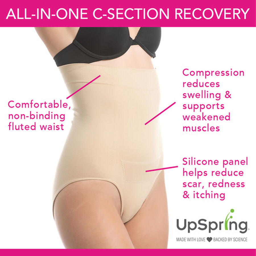 UpSpring C-Section Recovery Panty Plus Incision Care Nude 1X/2X, , large image number 2