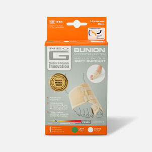 Neo G Bunion Correction System, Hallux Valgus Soft Support, One Size, Left