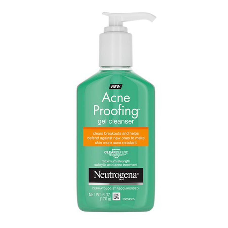 Neutrogena Acne Proofing Gel Cleanser, 6oz, , large image number 0