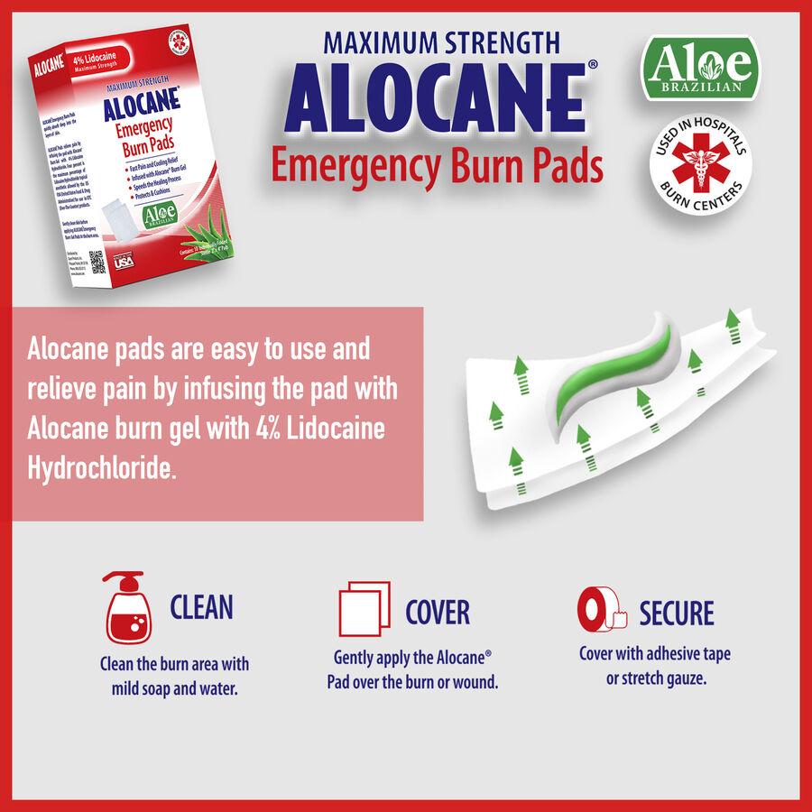 Alocane Maximum Strength Emergency Burn Pads, 10 ct, , large image number 5
