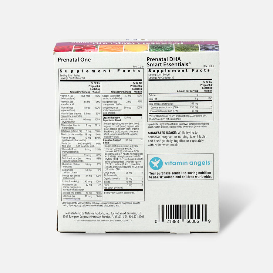 Rainbow Light Prenatal Daily Duo: Prenatal One + DHA 30 tab + 30 SG, , large image number 1
