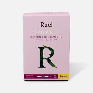 Rael Organic Cotton Core Tampons with BPA-Free Applicators