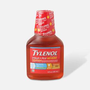 Tylenol Cold + Flu Severe Warming Honey Lemon Liquid, 8 fl oz