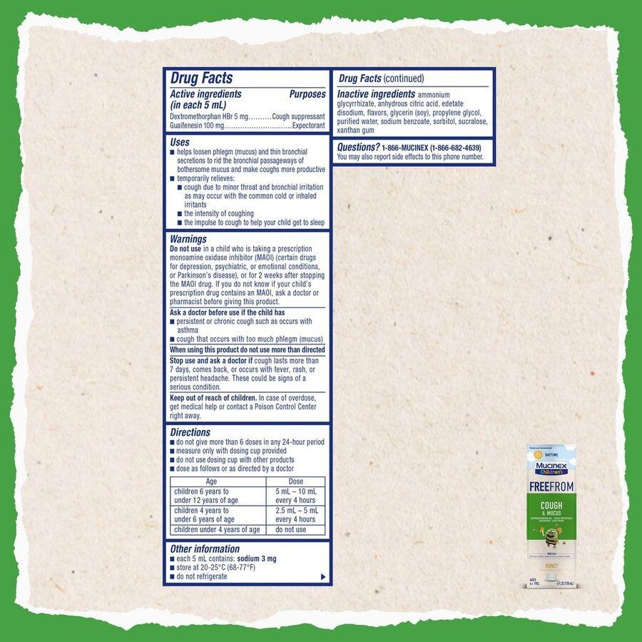 MUCINEX Children's Liquid Cough and Mucus, , large image number 1