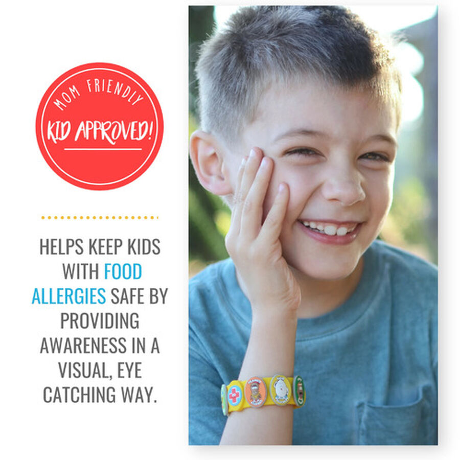 AllerMates Children's Allergy Charm Bracelet - Food Allergy, , large image number 3