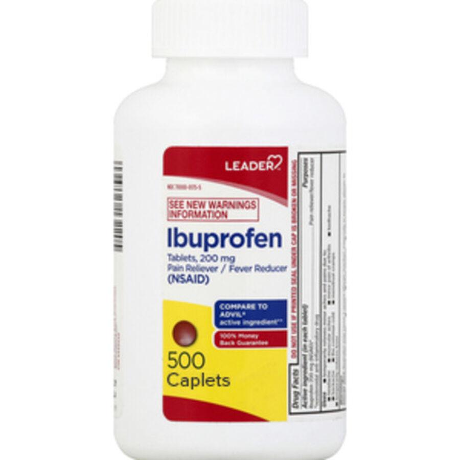 LEADER™ Ibuprofen 200mg Coated Caplets 500 ct, , large image number 0