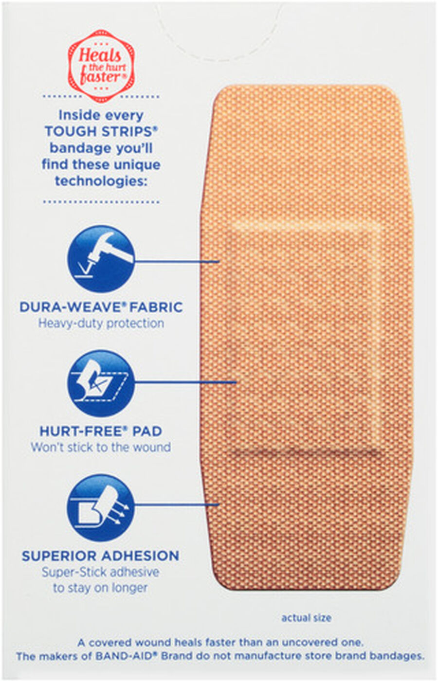 Band-Aid Tough-Strips, Extra Large, 10ct, , large image number 2