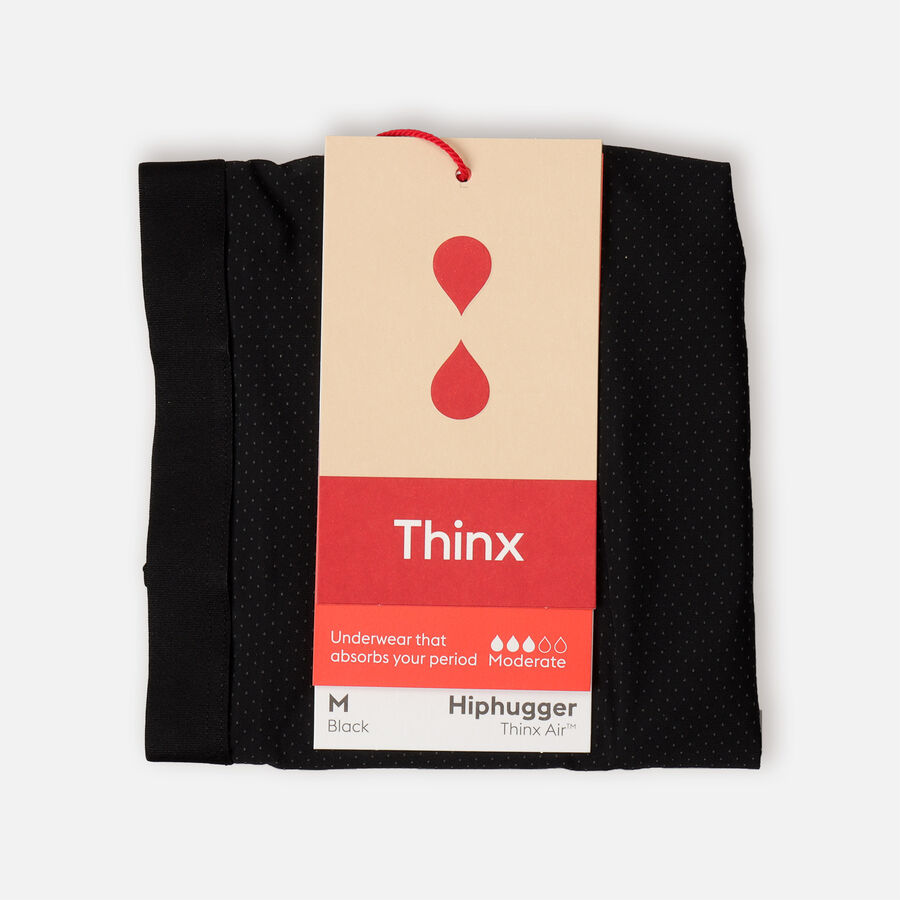 Thinx Period Proof Air Hiphugger, Black, , large image number 1
