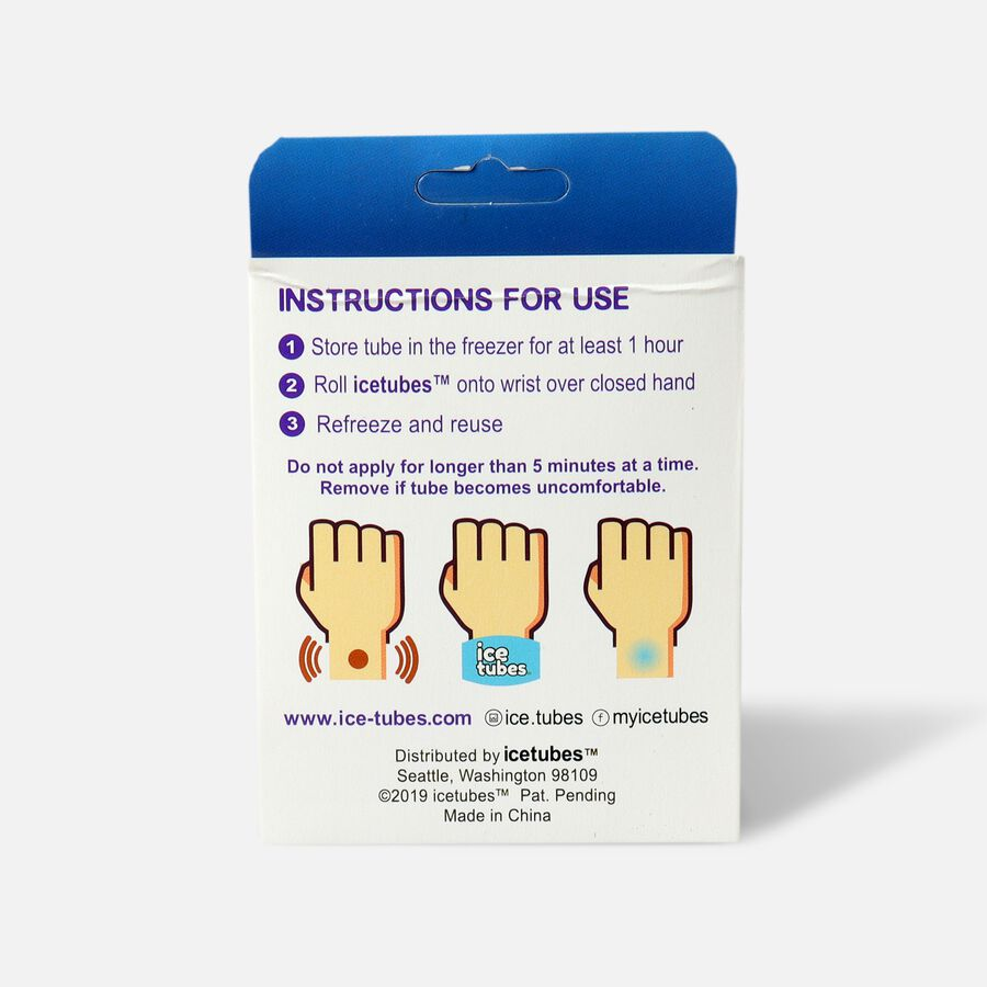 Icetubes™ Wrist Tubes, Roll-On Cold Compression, Blue, , large image number 1
