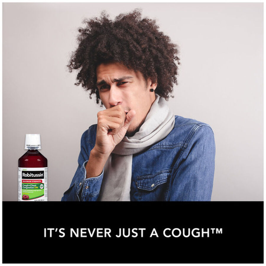 Robitussin Max Strength Cough and Chest Congestion DM Non-Drowsy Liquid, 12 oz, , large image number 4