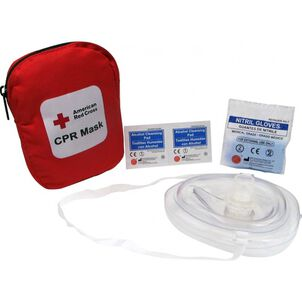 Genuine First Aid Portable CPR Mask, Soft Case
