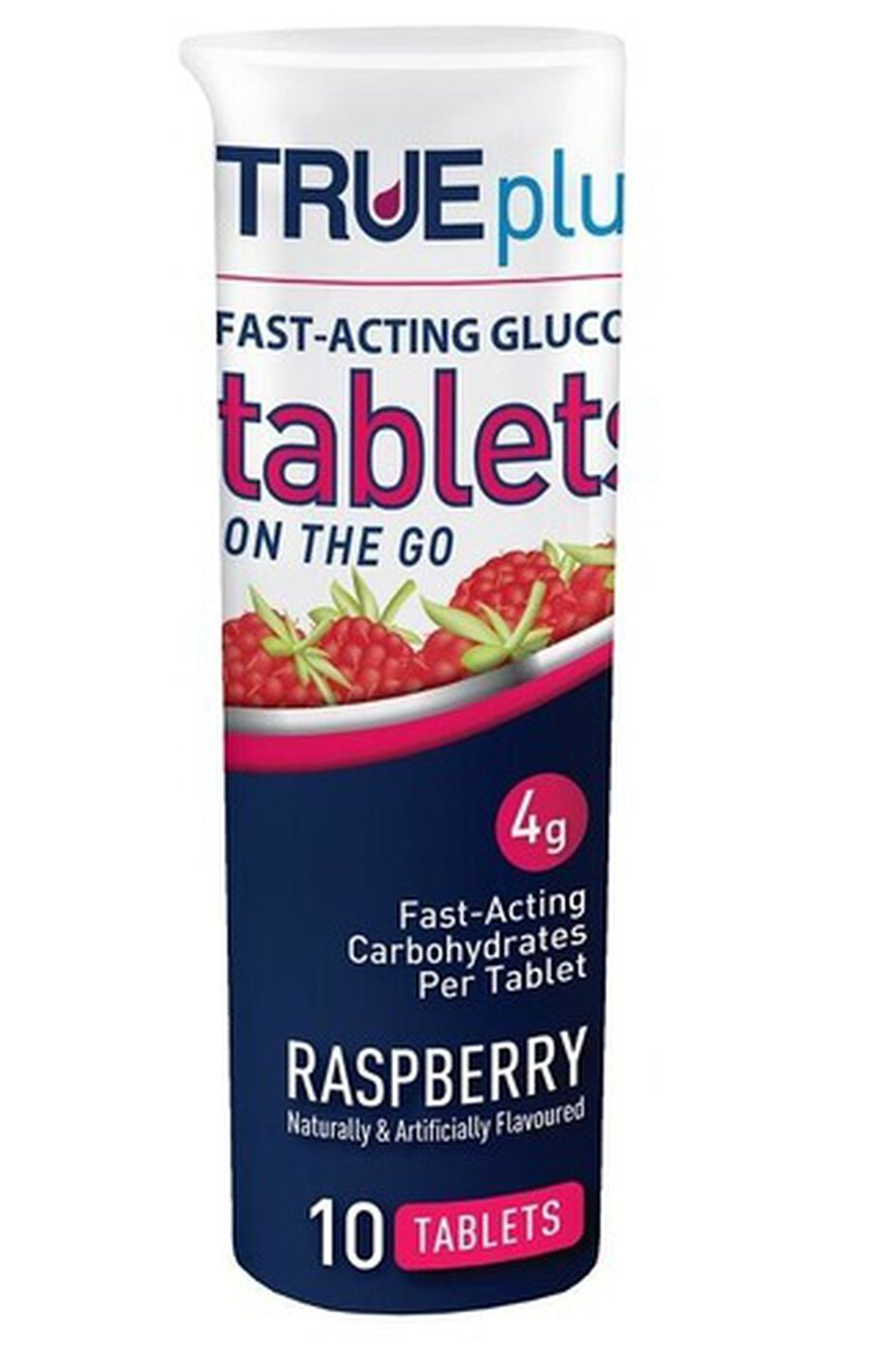 TRUEplus Glucose Tablets 10 ct- Raspberry, , large image number 2