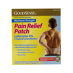 GoodSense® Pain Relief Lidocaine 4% Patch Max Strength, 5 ct