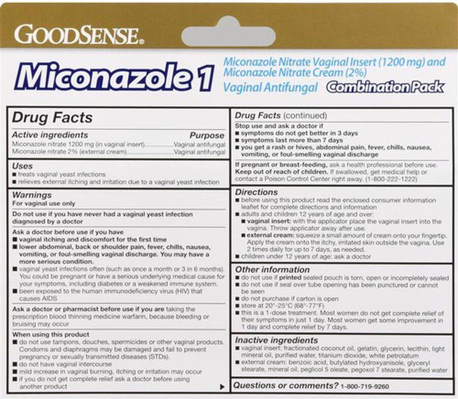 GoodSense® Miconazole 1 combo pack 1 Soft Gel Insert + 0.32 oz Tube, , large image number 1
