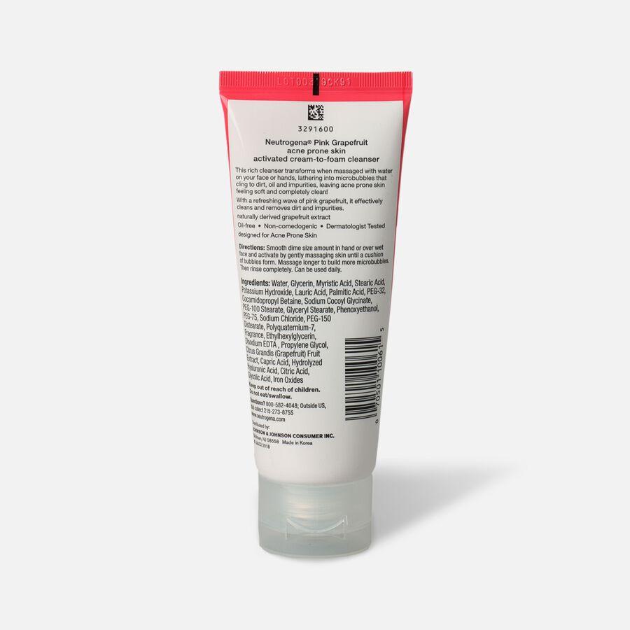 Neutrogena Pink Grapefruit Cream to Foam Facial Cleanser, 3.5oz., , large image number 1