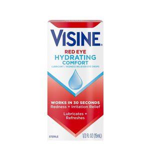 Visine Red Eye Hydrating Comfort Lubricating Eye Drops, 0.5 fl. oz
