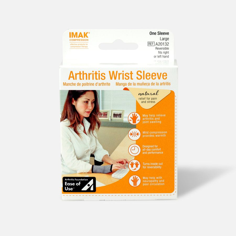 IMAK Compression Arthritis Wrist Sleeve, Large, , large image number 0