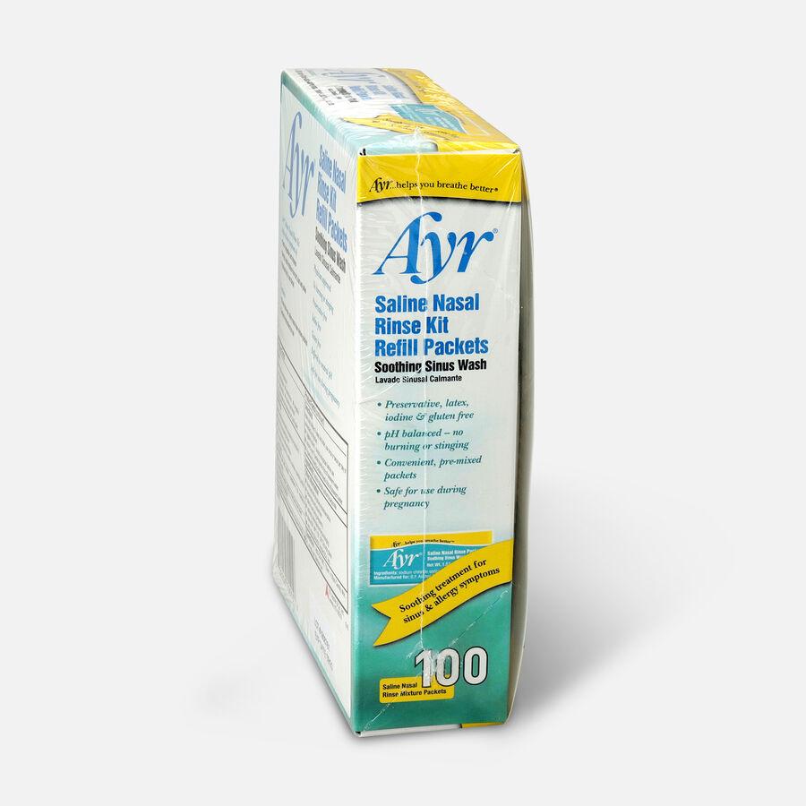 Ayr Saline Nasal Rinse Kit Refill Packets, 100 ea, , large image number 2