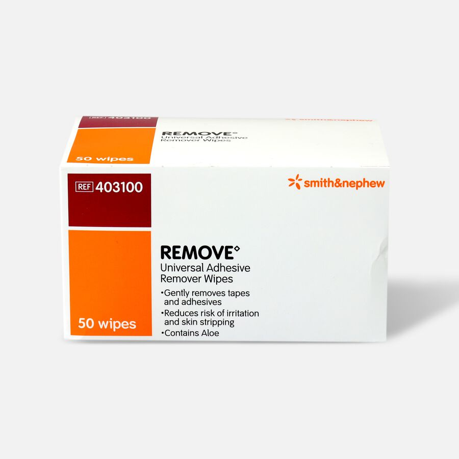 Smith and Nephew Remove Adhesive Remover Wipes - 50ct, , large image number 0