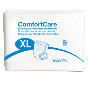 """ComfortCare Disposable Absorbent Underwear,  X-Large 48"""" - 66"""""""