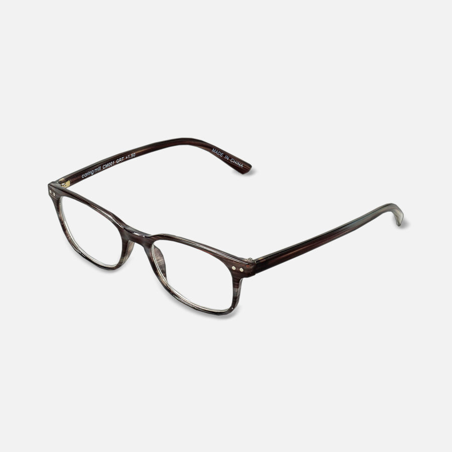 Caring Mill™ Reading Glasses, Gray Tortoise, , large image number 1