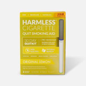 Harmless Cigarette Quit Smoking Aid, 30 Day Quit Kit, Lemon