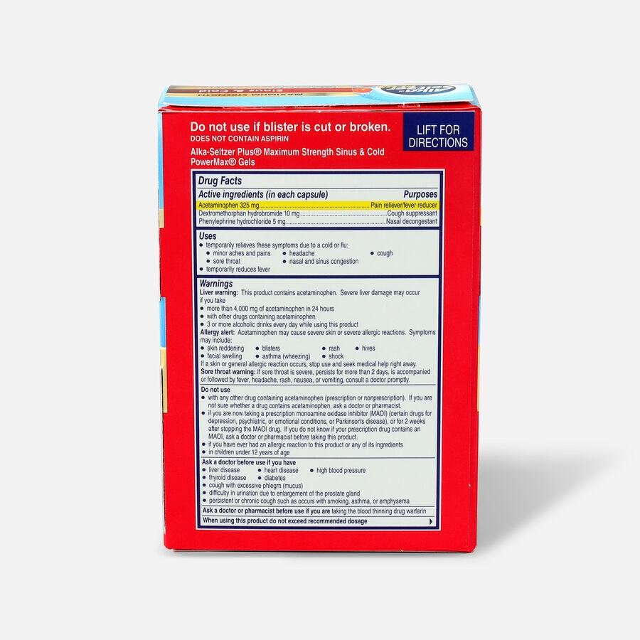 Alka-Seltzer Plus PowerMax Gels, Sinus & Cold, 24ct, , large image number 1