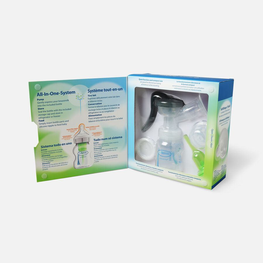 Dr. Brown's™ Manual Breast Pump with SoftShape™ Silicone Shield, , large image number 1