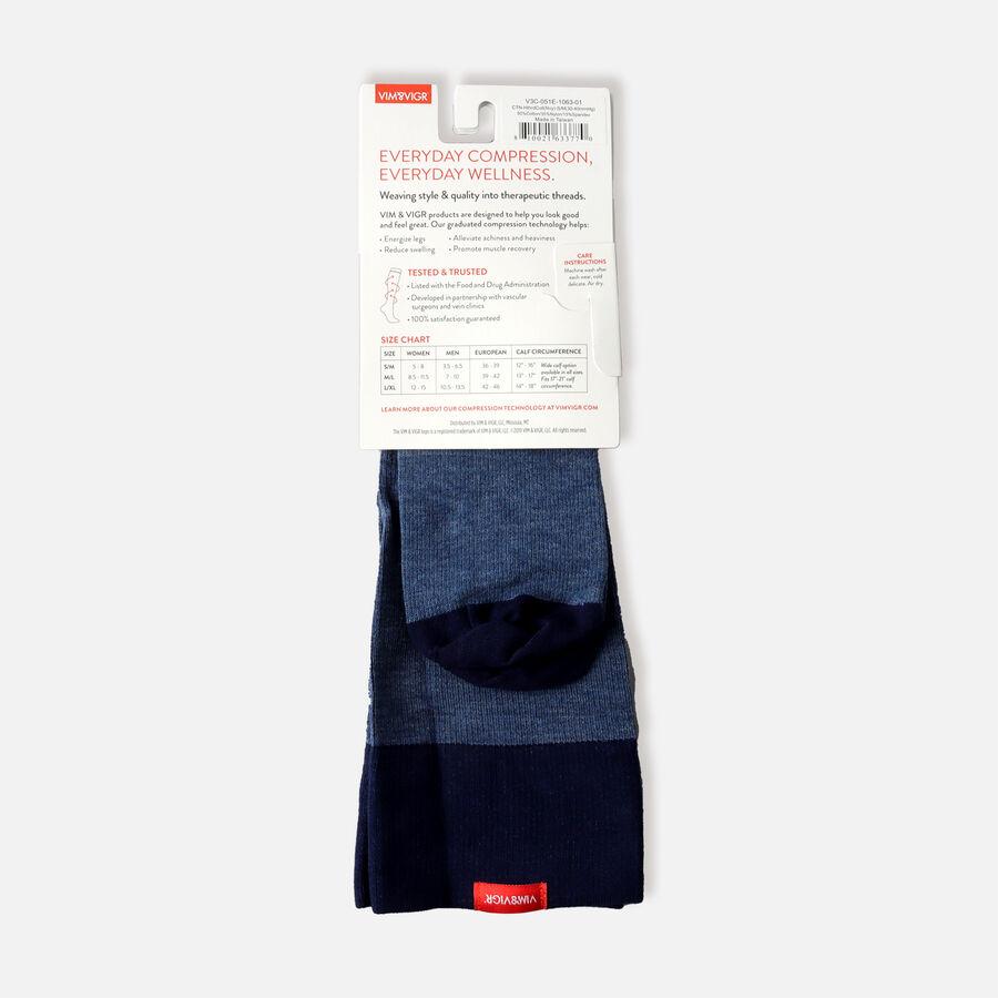 VIM & VIGR Cotton Socks, Heathered Collection Navy, 30-40 mmHg, , large image number 9