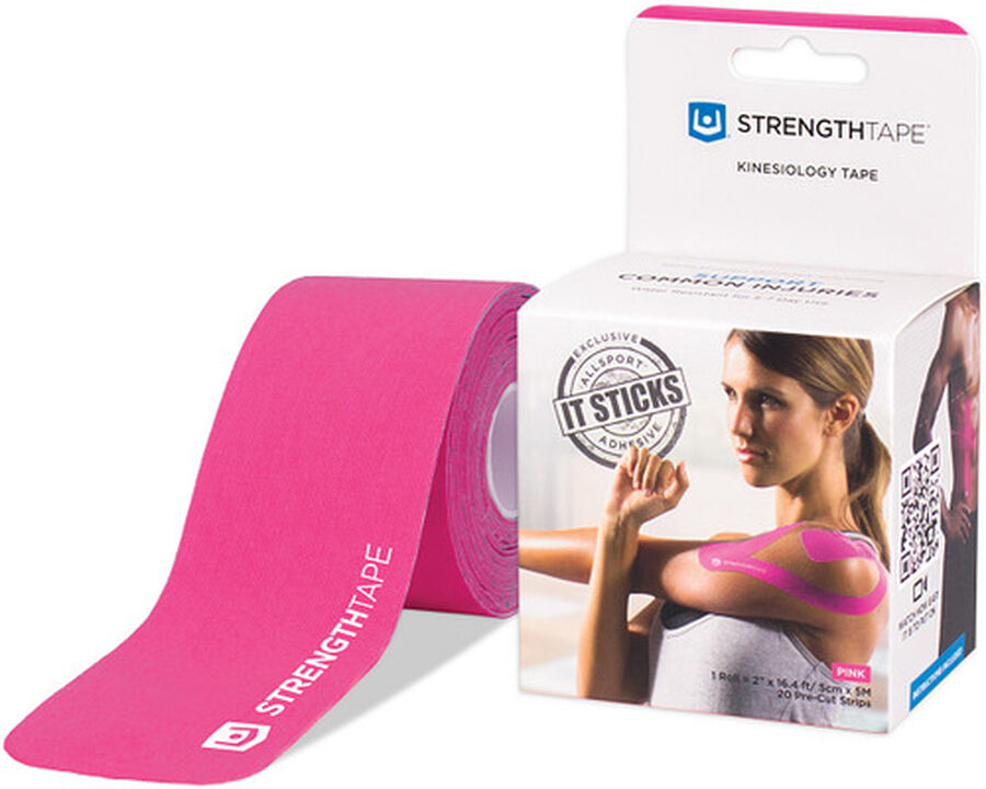 StrengthTape Kinesiology Precut Tape, Pink, 20 ct, , large image number 2