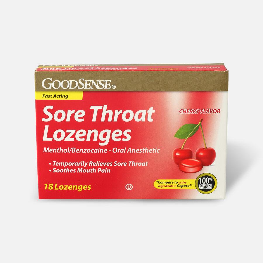 GoodSense® Sore Throat Lozenge 18 Count, Cherry, , large image number 0