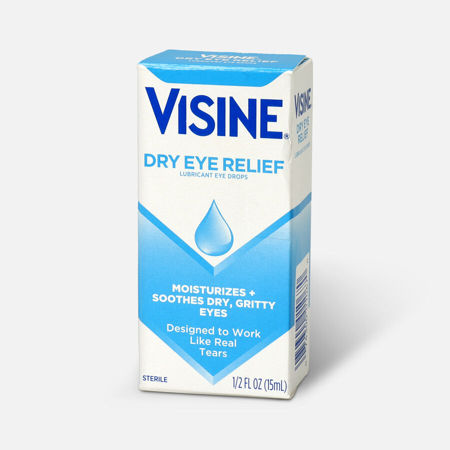 Visine Dry Eye Relief Lubricating Eye Drops for Dry Eyes, 0.5 fl. oz, , large image number 2