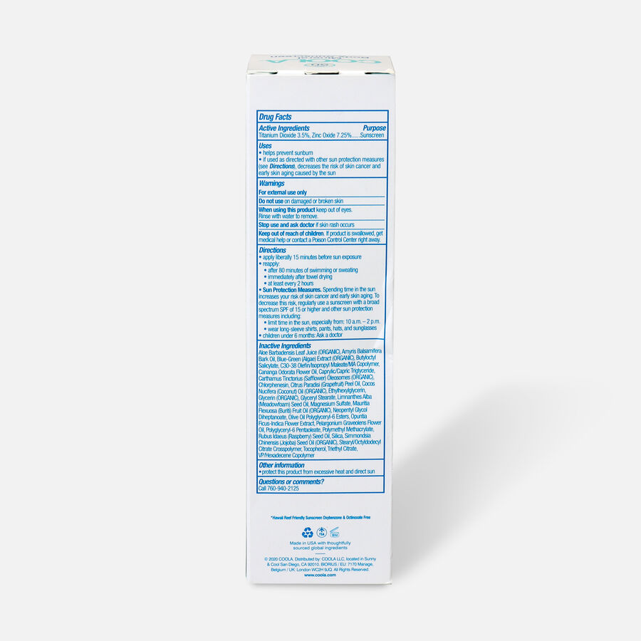 Coola Mineral Body Organic Sunscreen Lotion SPF 50 Fragrance-Free, 5oz., , large image number 2