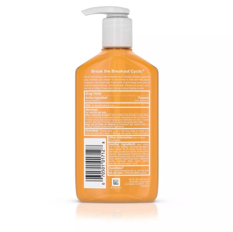 Neutrogena Oil-Free Acne Wash 9.1 fl oz, , large image number 4