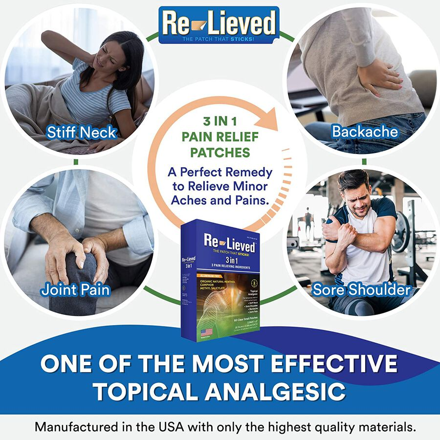 Re-Lieved 3-in-1 Pain Relief Patches, 60 ct, , large image number 3