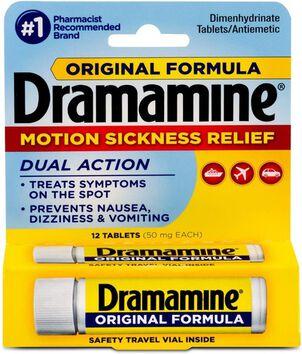 Dramamine Motion Sickness Relief, Original Formula, 12 ct