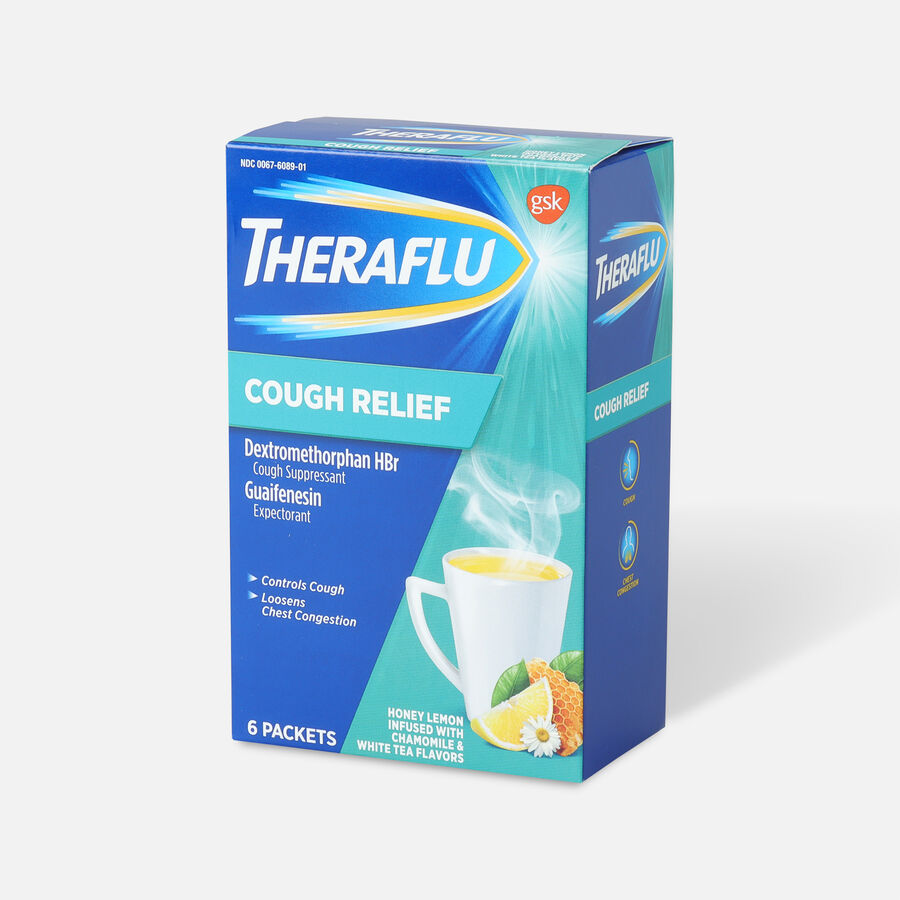 Theraflu Cough Relief Powder, Honey Lemon with Chamomile and White Tea, 6 ct, , large image number 3