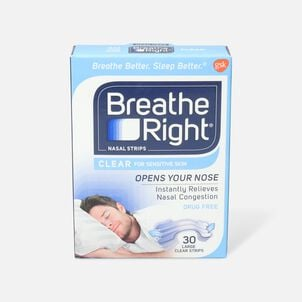Breathe Right, Clear Strips, Large, 30 ct.