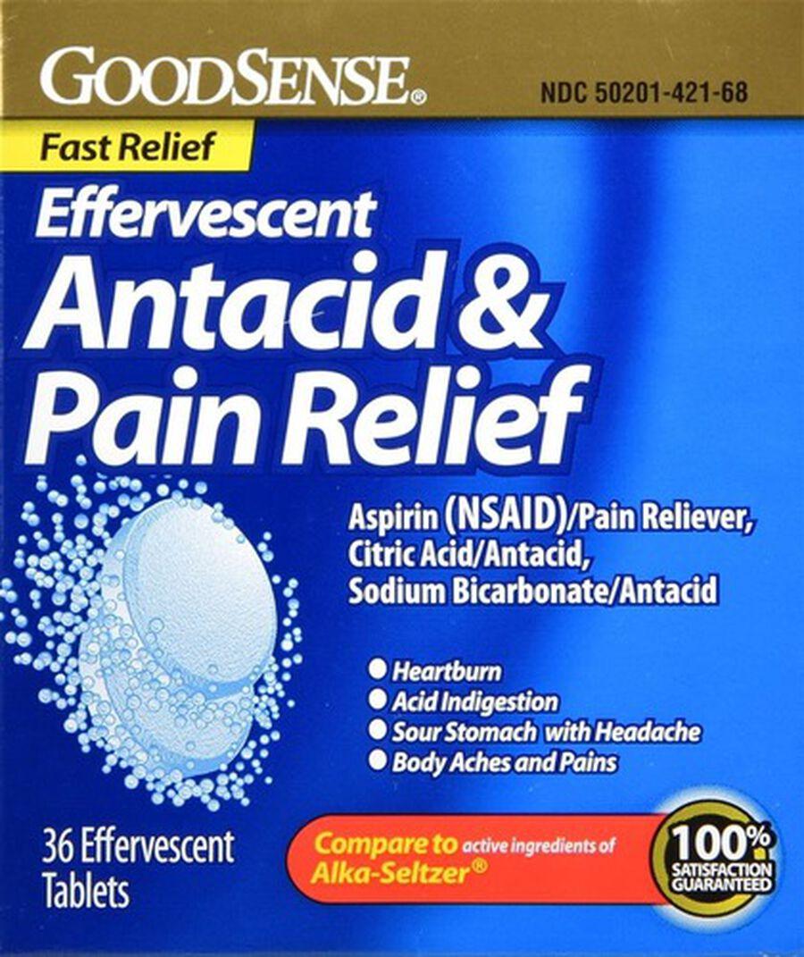 GoodSense® Effervescent Antacid & Pain Relief, 36 ct, , large image number 0