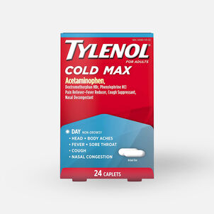 Tylenol Adult Cold Max Daytime Caplets, 24 ct