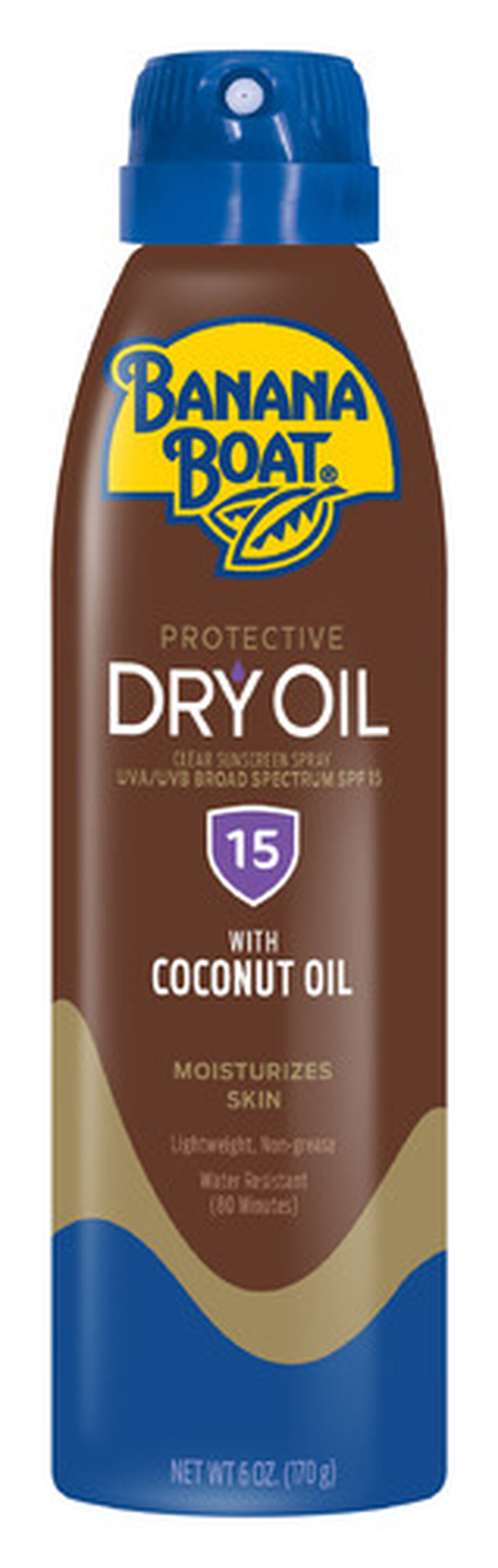 Banana Boat Dry Oil Clear Sunscreen Spray SPF 15, 6oz., , large image number 0