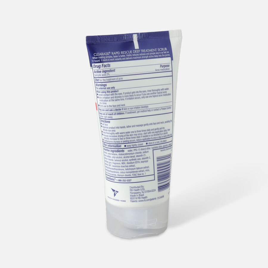 Clearasil Rapid Rescue Deep Treatment Scrub, 5oz., , large image number 1