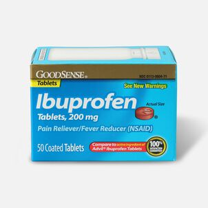 GoodSense® Ibuprofen Coated Tablets 200 mg, Pain Reliever & Fever Reducer, 50 ct