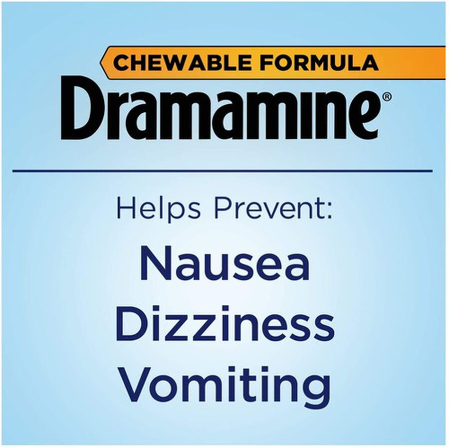 Dramamine Motion Sickness Relief Chewable Tablets, Orange Flavor, 8 ct, , large image number 4