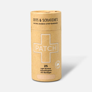 PATCH Organic Bamboo Adhesive Strip Bandages - 25ct