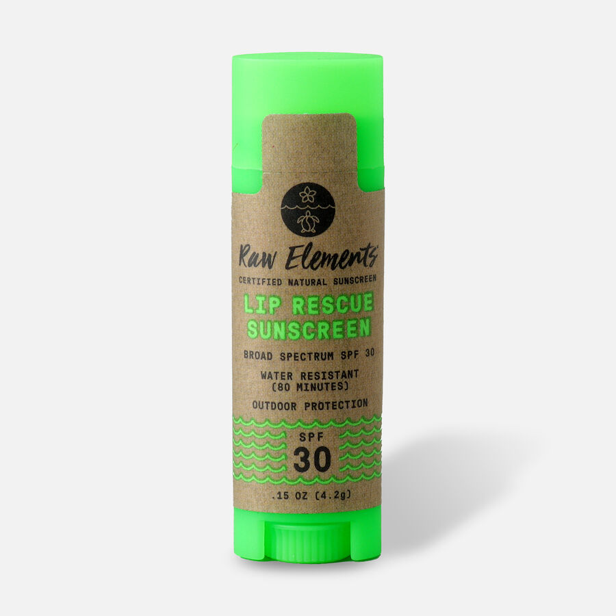 Raw Elements Lip Rescue Lip Balm, SPF 30, .15 oz, , large image number 0