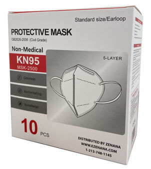KN95 Face Mask (Box of 10)