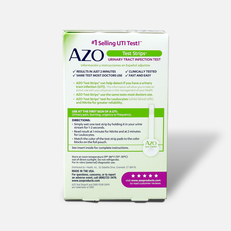 Azo Urinary Tract Infection Test Strips with Handle, 3 ct, , large image number 1