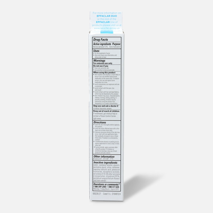 La Roche-Posay Effaclar Duo Acne Treatment with Benzoyl Peroxide, , large image number 1